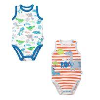grand choix de 00ab9 0d9bf Lot de 2 bodies bébé garçon débardeurs bébé Wildino - Taille - 9 mois