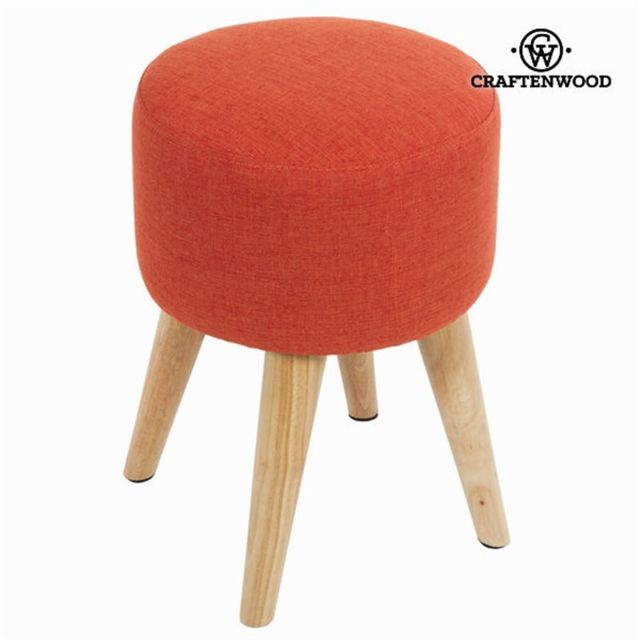 Craftenwood Tabouret rond sixty rouge - Collection Love Sixty by