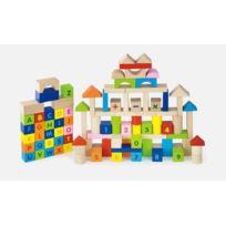 Milly Mally - Jeu de construction blocs en bois pour enfant 2ans+ Alphabet et Chiffres 100 pièces | Multicolore
