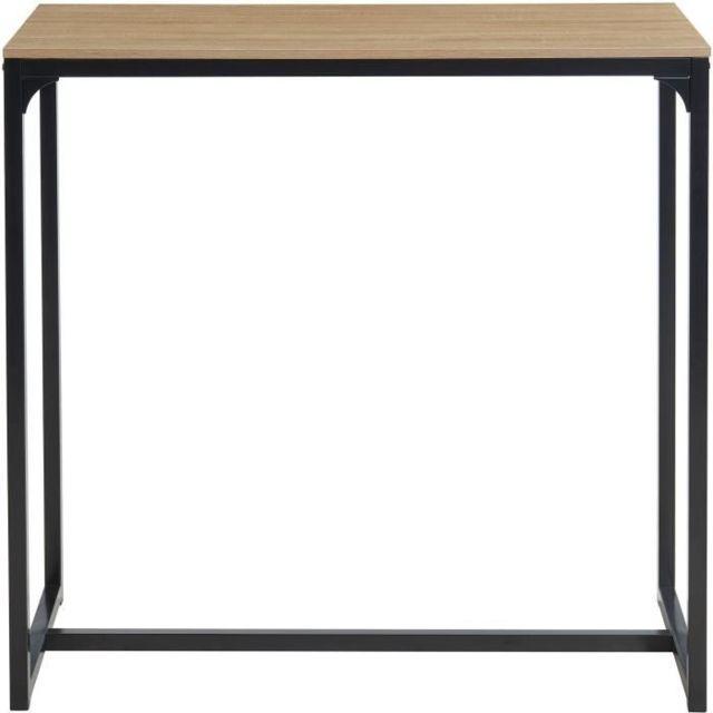 Marque Generique Table A Manger Seule Arche Table haute - Style industriel en Mdf et métal - Décor chene et noir - L 115 x P 50 x H 110 c