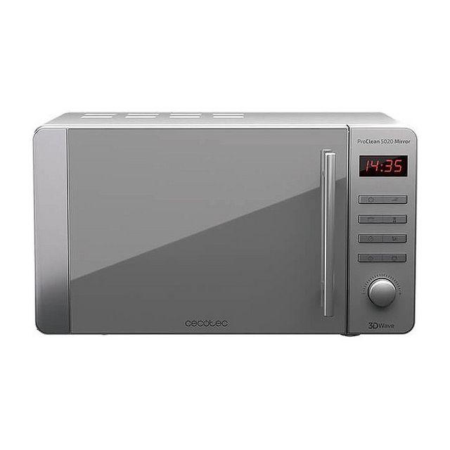 Totalcadeau Micro-ondes effet miroir 20L 700W acier inoxydable