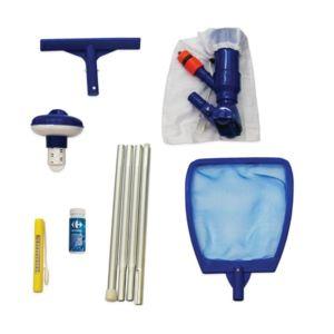 Carrefour 6 accessoires 1er quipement pour nettoyage for Produit piscine carrefour