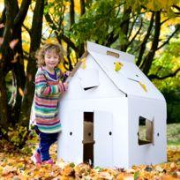 Kidsonroof - Cabane Carton Casa Cabana Blanche