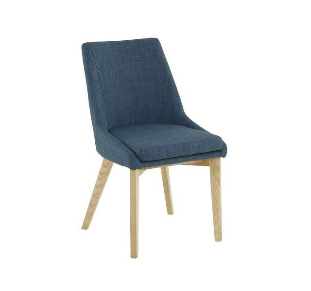 Lebrun Chaise bleue frene Enzo