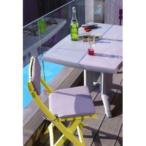 grosfillex coussin pour chaise pliante assise dossier taupe pas cher achat vente. Black Bedroom Furniture Sets. Home Design Ideas