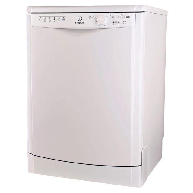 Indesit Lave-vaisselle - DDFG26B17 - Blanc Capacité : 13 couverts - Affichage par Diodes - 6 programmes - 3 températures - Départ différé : 3-6-9 h - Demi charge - Voyant niveau de sel - Voyant liquide de rinçage.