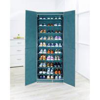 Wenko - Armoire à chaussures en tissus - 30 paires - 61 x 160 cm