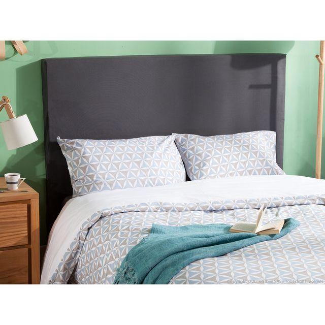 comptoir des toiles t te de lit housser hauteur 120 cm alacasa 90 cm blanc pas cher. Black Bedroom Furniture Sets. Home Design Ideas