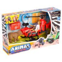Chap Mei - Animal Rescue - Coffret Safari Helicoptere Et Ours - Safari