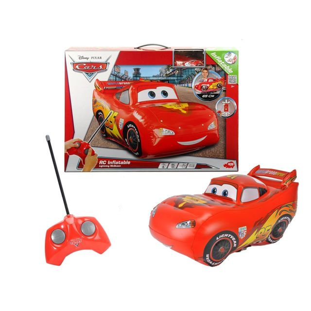 Dickie Toys Cars 201120002, Flash MacQueen gonflable radiocommandé de 65cm