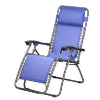 Cross Outdoor - Relax Luxe Multi-positions Textilène Bleu