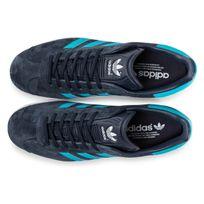 check out c10bd d771a ... chaussures adidas gazelle bleu marine vue dessus