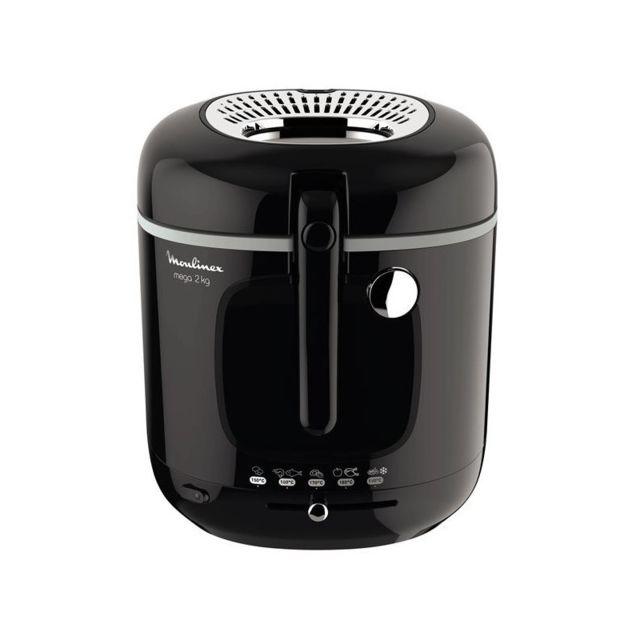 Moulinex Seb Friteuse Classique Xl 1800WNoir Familiale 2Kg/3,3L Cuve couvercle panier et filtre compatibles lave-vaisselle