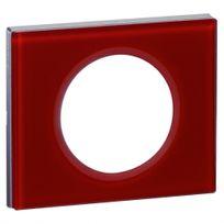 Legrand - Plaque céliane 1 poste verre carmin