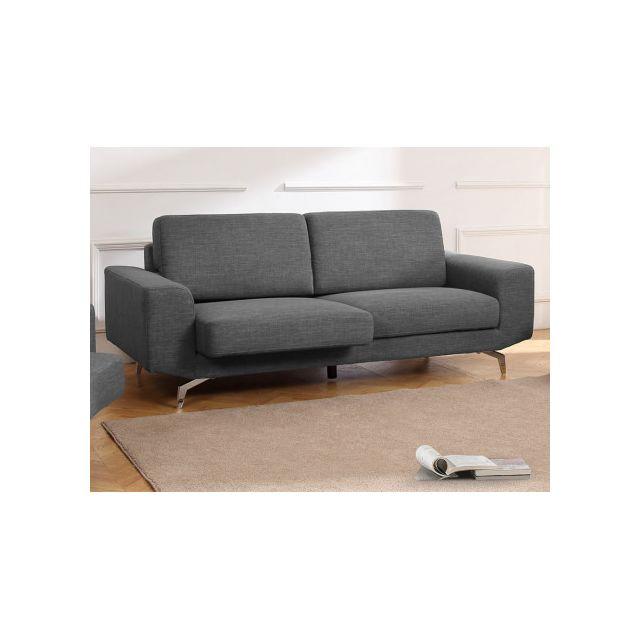 revendeur 1a170 e2015 MARQUE GENERIQUE - Canapé 3 places en tissu avec assise ...