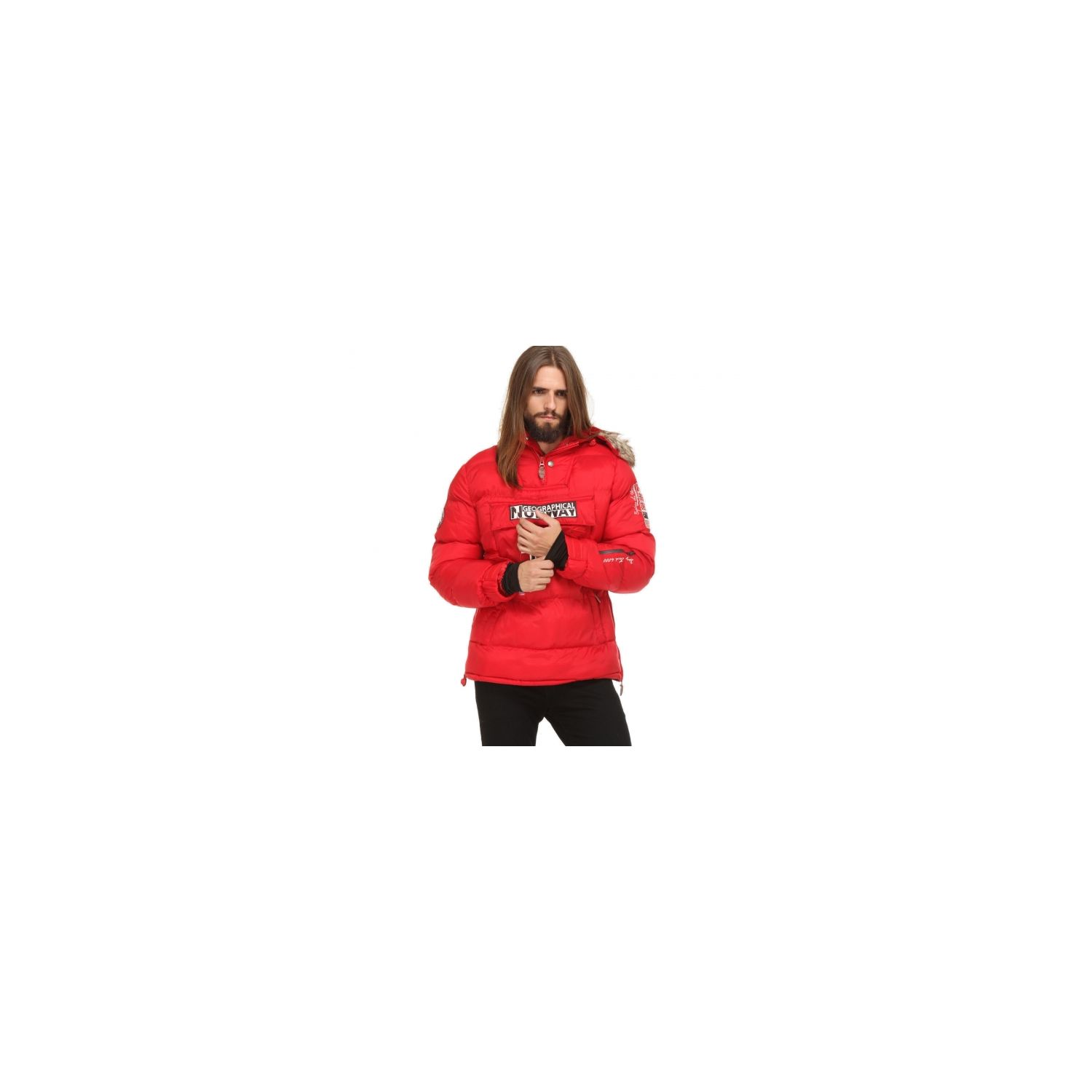 Norway Geographical Homme Doudoune Soldes Parka Rouge Bolide AOxzd8