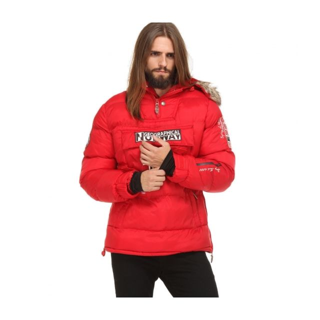 Rouge Bolide Geographical Homme Parka Doudoune Norway Géographical PqBPwa60x