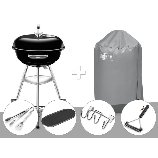 Barbecue Weber Compact Kettle 47 cm + Housse + Kit Ustensile