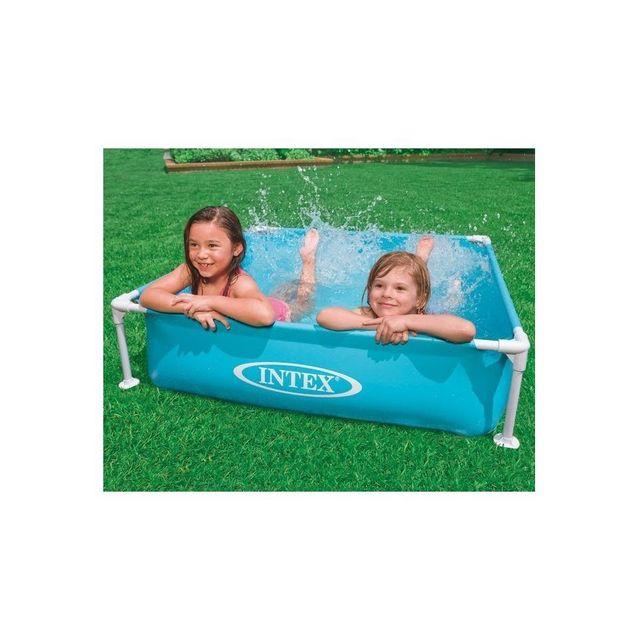 intex piscine tubulaire pour enfants carr e pas cher achat vente piscines gonflables. Black Bedroom Furniture Sets. Home Design Ideas