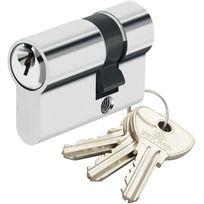 Bricard - Demi Cylindre de sécurité pour porte barillet 10x30 mm Alpha 3 clés