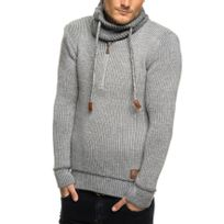 Beststyle - Pull homme gris fashion