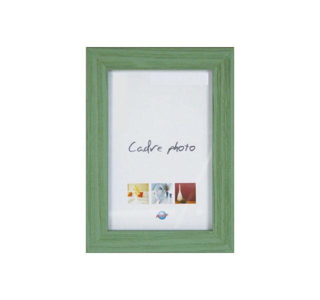 Ariane Cadre photo 10x15cm en bois vert, coloris tendances