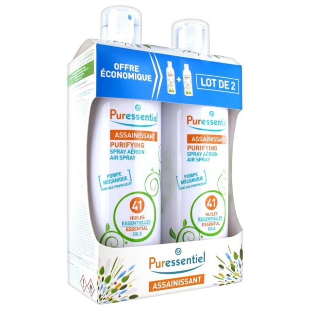 puressentiel assainissant 41 huiles essentielles spray 2x500ml le spray a rien aux 41 huiles. Black Bedroom Furniture Sets. Home Design Ideas