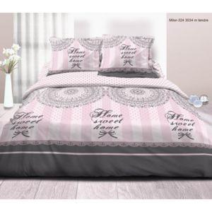 univers decor parure de draps 4 pi ces pour lit 160 x 200 cm grande largeur sweet poudr 100. Black Bedroom Furniture Sets. Home Design Ideas
