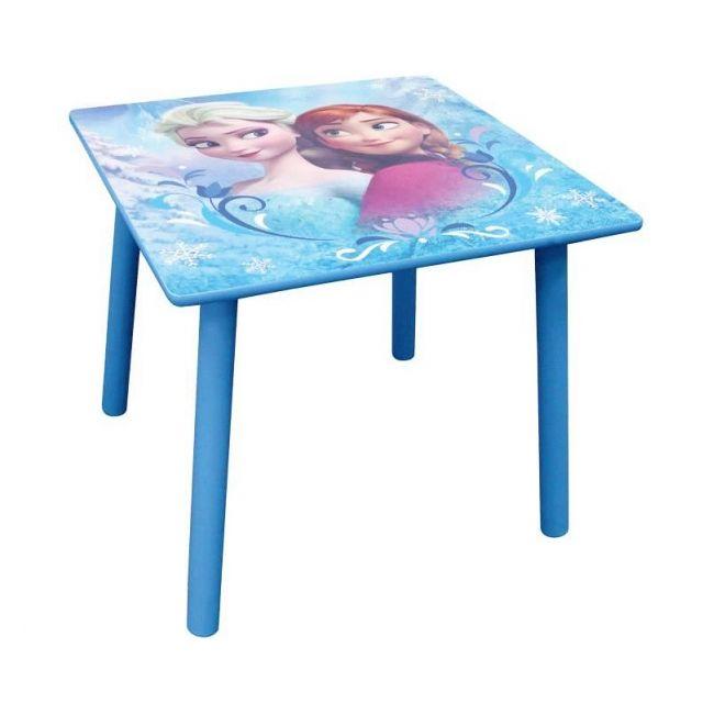 Disney Table de jeu carrée - Bureau pour enfant - Reine des Neiges