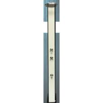 Crm - Douche Solaire Blanche - avec accessoire, Robinet - 40L
