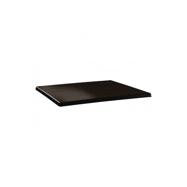 Topalit Plateau de table rectangulaire 120x 80cm wengé - Wengé 1200 mm