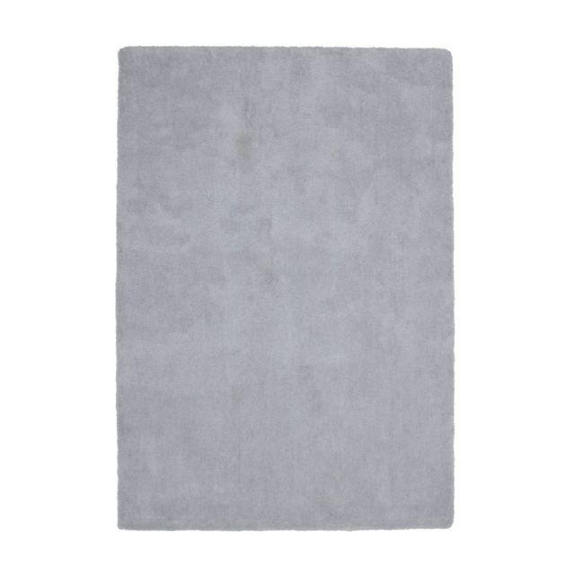 deladeco tapis en polyester doux uni argent pour salon hawaii pas cher achat vente tapis. Black Bedroom Furniture Sets. Home Design Ideas