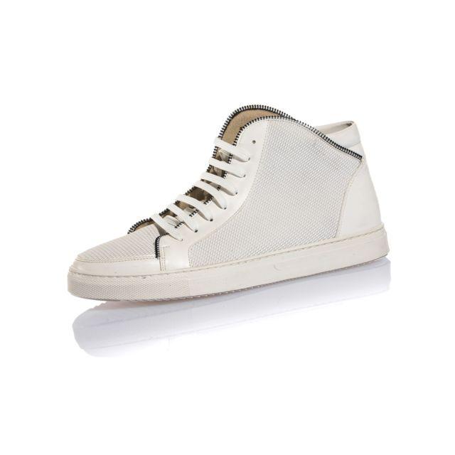 22ca5ad224238 BLZ Jeans - Basket homme blanche semi-montante stylé 40 - pas cher ...