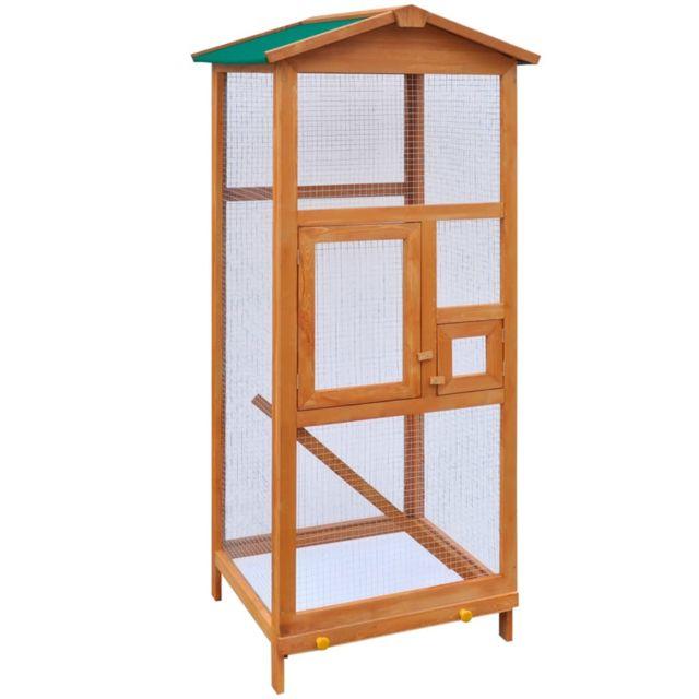 sublime Accessoires pour petits animaux selection Phnom Penh Cage à oiseaux Bois 65 x 63 x 165 cm