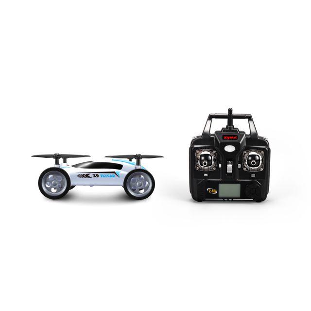MARQUE GENERIQUE Voiture volante radiocommandée - TY62916 Voiture volante radiocommandée 4 canaux X9 2,4G d'une taille de L 23 x l 21,5 x H 6 cm avec une portée de 30 m. Avec cette voiture aucun obstacle ne vous résistera car vo