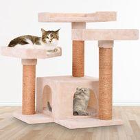 Leopet - Arbre à chat hauteur env. 66 cm dans 6 coloris et 3 motifs beige avec