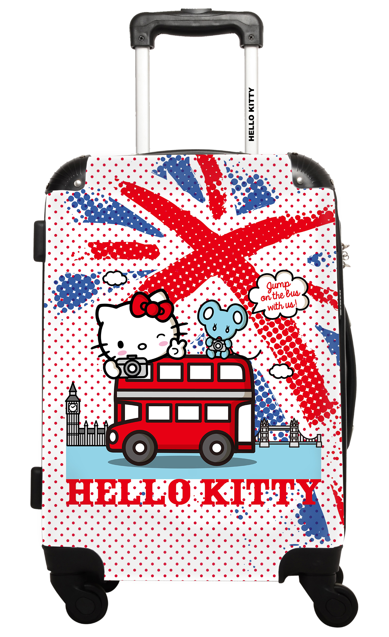 Hello Kitty - Around The World London - Impression Multicouleurs - 50 cm Rose