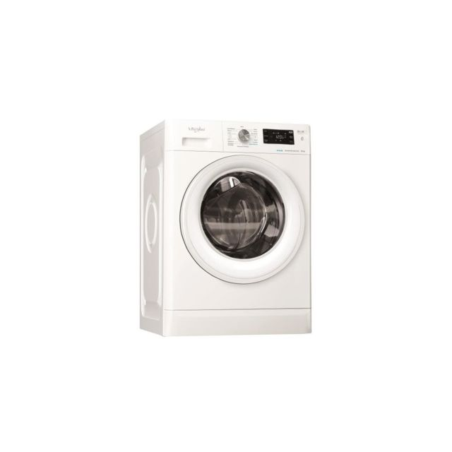 Whirlpool Lave-linge Frontal Pose Libre Freshcare, Blanc, 9kg, 1400 Trs, A
