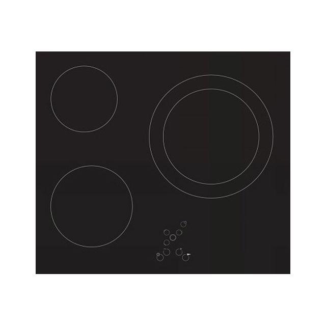 Sogelux Table de cuisson vitrocéramique Pv131 noire