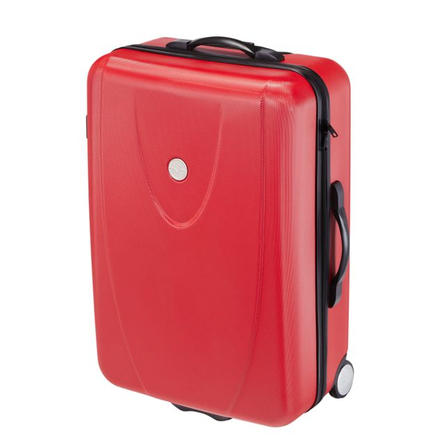 carrefour valise abs 2 roues 80 cm rouge as d2 pas cher achat vente valises. Black Bedroom Furniture Sets. Home Design Ideas