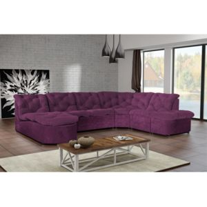 modern sofa canap clac d 39 angle panoramique prune violet 310cm x 83cm x 0cm r versible. Black Bedroom Furniture Sets. Home Design Ideas