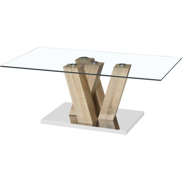 HABITAT ET JARDIN Table basse Gaya - 110 x 60 x 40 cm - Chêne