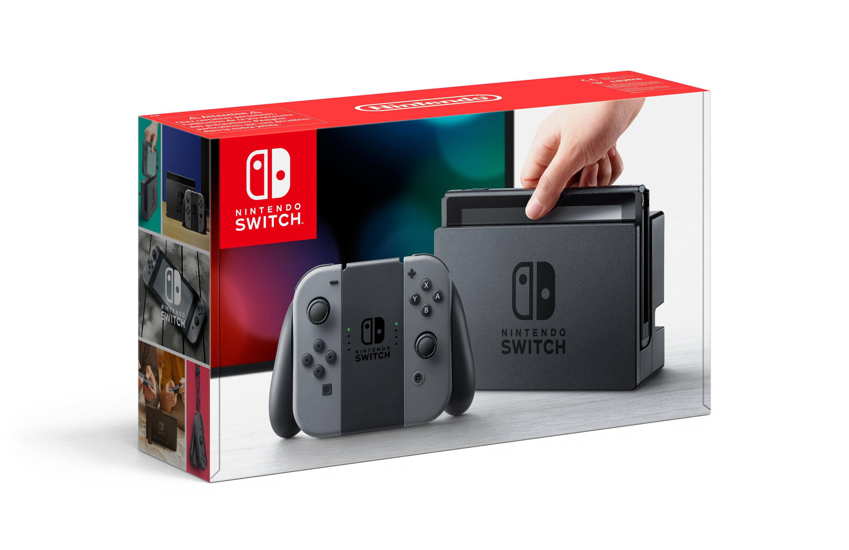 Console Switch avec une paire de Joy-Con Gris