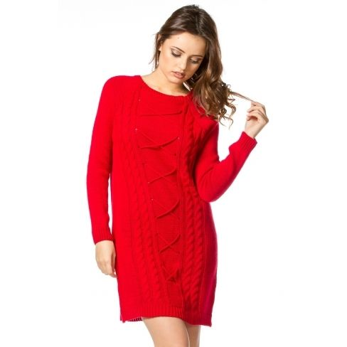 Robe pull rouge pas cher