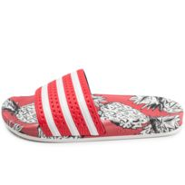 low cost ef9a4 73cee Adidas - Sandales Adilette X The Farm Company Rouge Femme
