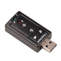 Cabling - Usb 2.0 Stéréo Virtuel 7.1 Canaux Adaptateur De Carte Son,Alimenté par port Usb / Interface audio