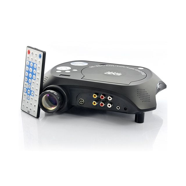 Auto-hightech Video projecteur Multimédia Led avec lecteur Dvd - 480x320, 20 Lumens, 100: 1