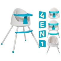 Kinderkraft - Tutti Chaise haute bébé multi positions 4en1 Bleu