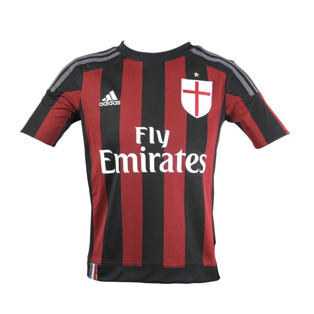 Adidas performance - Adidas Performance Ac Milan Home Jersey Ls Maillot de  Football Enfant Climacool dc2e1e7f339fb