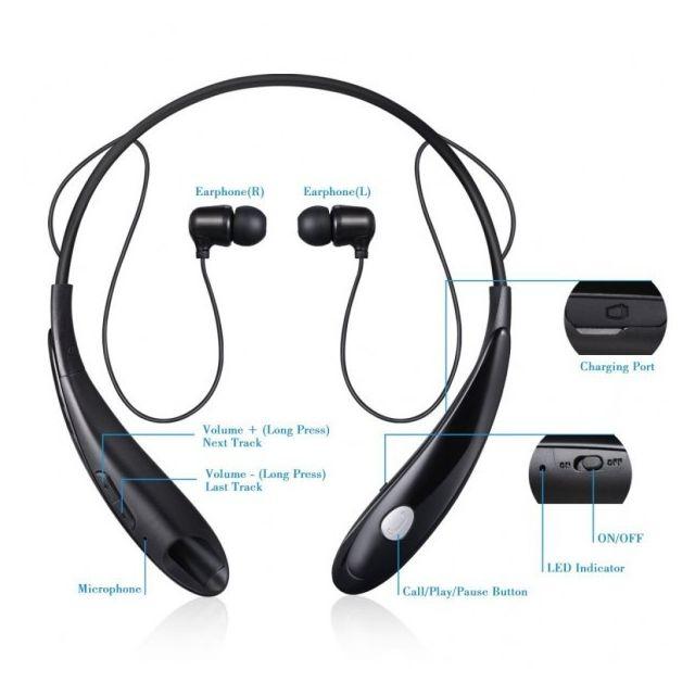 Alpexe Oreillettes Bluetooth écouteurs Bluetooth Stéréo Casque